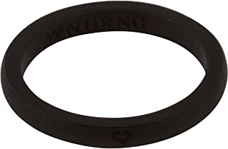 LearnFitFun Silicone Wedding Rings for Women. Thin Stackable Rubber Engagement Bands Single or Set of 10 Rings. Size 4-10 WNDRNG