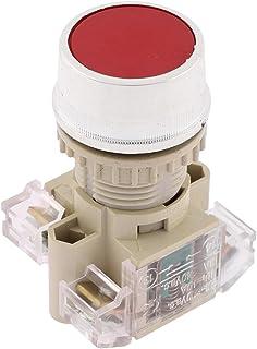 Ui 600V Ith 10A 22 mm panel momentär tryckknappsbrytare 1NO 1NC DPST