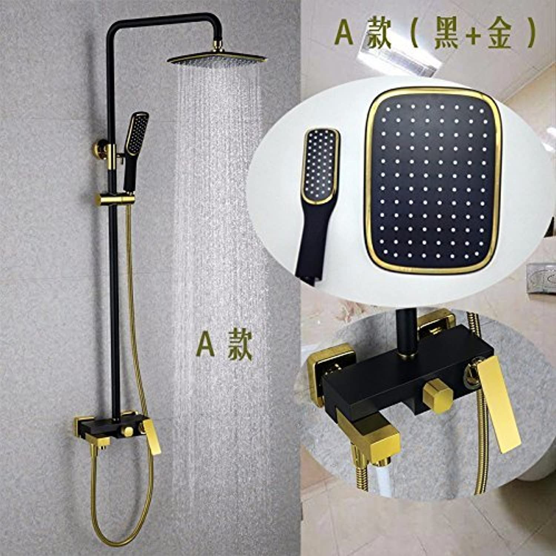 Volle Kupfer Bad Dusche stellt drei Funktionen der Farbe an der Wand angebrachten Wasserhahn aufgehoben werden knnen,