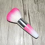 Juego de pinceles de maquillaje, herramienta de brochas de limpieza de polvo para uñas de gel UV acrílico Kit removedor de polvo (rosa # 81)