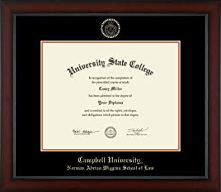 Campbell University Norman Adrian Wiggins School of Law - Officially Licensed - Gold Embossed Diploma Frame - Diploma Size 14
