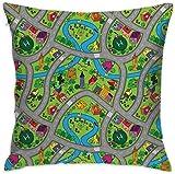 Heekie Cojín Funda de Almohada Cover Sofa Decor Hand-Drawn Style Suburb Cartoon...