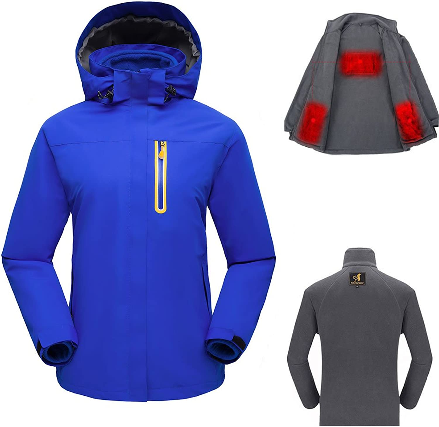SmartHS Women's Heated Jacket Kit, Outdoor Warm Jacket with Detachable USB Heating Fleece Liner