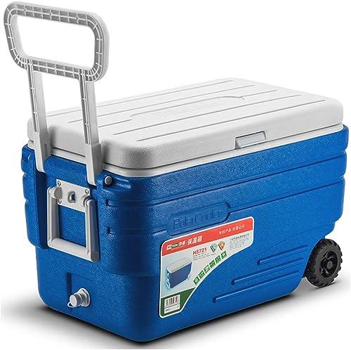 JCOCO 80L Deep Freeze Zipperless Hardbody Roues Cooler Box- Perforhommece bière Boissons Glacière pour Le Camping, barbecues, Tailgating et activités en Plein air