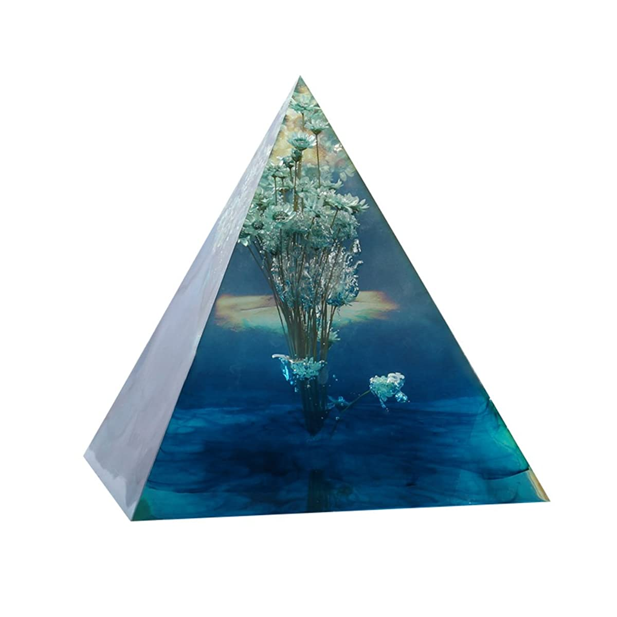 xiangshang shangmao DIY Super Pyramid Silicone Mould Resin Craft Jewelry Making Mold Plastic Frame