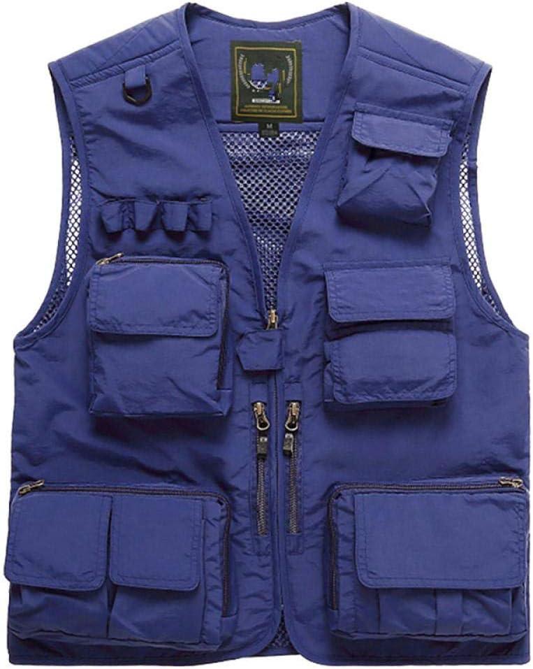 Fishing Vest Pocket Fishing Waistcoat Fly Fishing Vest Large Size S-7Xl Men S Summer Outdoor Fishing Mesh Vest Jacket Man Jungle Tactical Multi Pockets Travel Photography Waistcoats-Orange/_3Xl