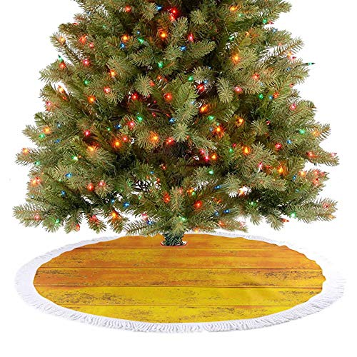 Luxury Christmas Tree Skirt The Wooden Horizontal Background Texture from Oak Tree Timber Design for Llivin New Year Festival Ornament Supplies A Fabulous Addition to Your Christmas Tree - 36 Inch