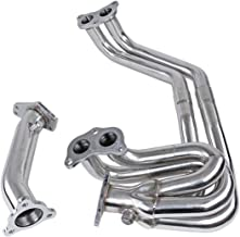 JX-Trading Stainless Steel Racing Exhaust Manifold Header Up Pipe for 2002-2007 Impreza WRX/STI 2.0L EJ20/2.5L EJ25