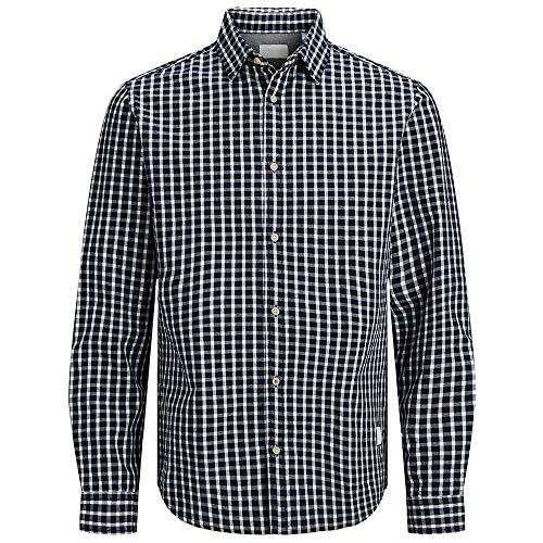 Jack & Jones JJ30CLASSIC Shirt L/S Chemise, Noir Iris/Coupe : Coupe Confortable, XL Homme