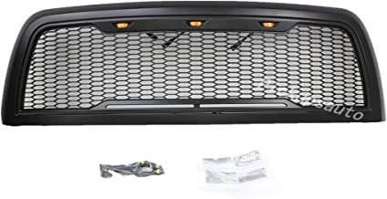 Replacement ABS Upper Grille LED Front Grill for Dodge Ram 13-18 2500 3500