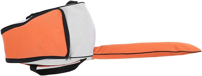raguso Bolsa de Almacenamiento portátil de Tela Oxford para Motosierra, práctico maletín de Transporte para cortacésped, Caja Protectora para Motosierra (Verde/Naranja/Rojo)(Naranja)