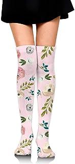 4 de agosto Floral gratis en una chica rosa sobre calcetines hasta la rodilla Medias altas 65 Cm / 25.6In