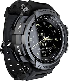 LOKMAT Sports Anolog Digital Smart Watch Men Boys Waterproof Bluetooth Smart Wrist Watch, Smartwatch with Walking Calories,Remote Camera, Call/SNS/SMS Reminder for iOS and Android Smartphone
