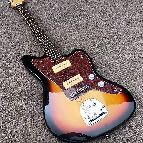 MLKJSYBA Guitarra Guitarra Eléctrica Jazz Eléctrica Guitarra Puesta De Sol Colores Acústico...