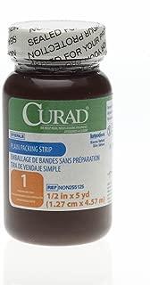 Medline Gauze Packing Stri P Plain Sterile, 1/2 Inch x 5yd
