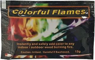 Yuehuam Magic Neon Flames Fire Magic Tricks Bonfire Camp Fire Colorful Flame Powder Games Toy Magical Flame Display Dust Powder