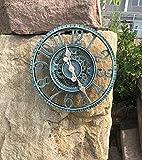 Outdoor Grosse Retro Gartenuhr Wetterfest , Badezimmeruhr Groß Vintage Dekorativ Ornament Wanduhr mit ohne TickgeräUsche Moderne Uhr