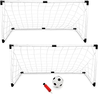 K-Roo Sports Youth Soccer Set with 2 Goals, Mini Soccer Ball, and Pump