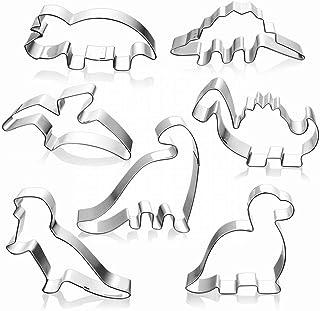 Molde de acero inoxidable con forma de dinosaurio para galletas, fondant, pasteles, bricolaje