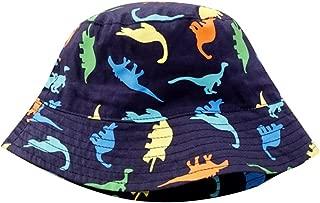 UPF 50+ Unisex Baby Cartoon Printing Small Dinosaur Cotton/Flower/Robot/Car Fisherman Hat Wide Brim Sun Hat
