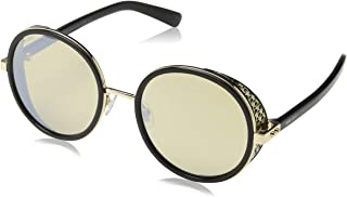 Jimmy Choo Women's Andie/N/S T4 2M2 54 Sunglasses, Black Gold Grey