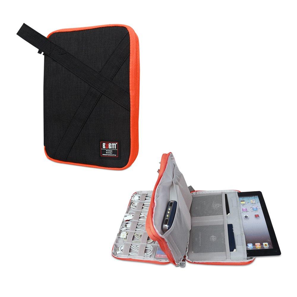 BUBMは美しいDIPデータケーブルパッケージポータブルバッグUディスクパッケージワイヤー収納袋ヘッドセットバッグモバイル電源パッケージ多機能デジタルアクセサリー収納袋(ダブル)増加(20 * 27.5 * 4 CM)、黒)