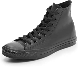 Converse All Star Hi Leather Baskets Monochrome Noires