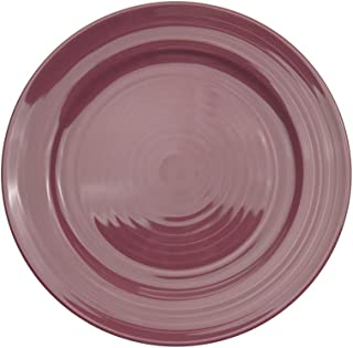 CAC China TG-9-PLM Tango Plum Porcelain Round Plate, 9-7/8 by 9-7/8 by 1-1/4-Inch, 24-Pack