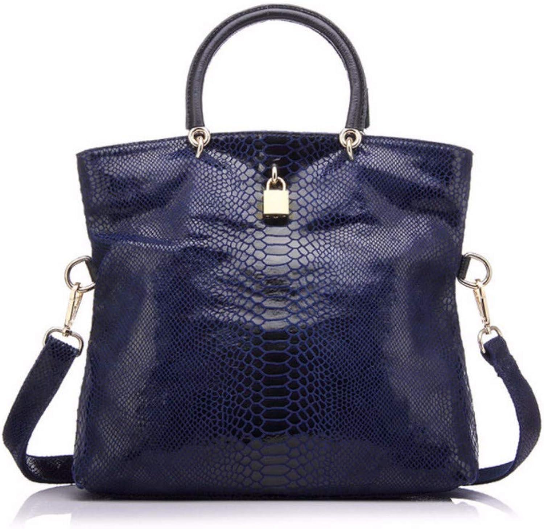 JQSM Woman Handbag Leather Bags Female Snake Pattern Tote Bag Leather Handbags Evening Clutch Shoulder Bag