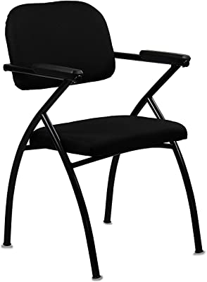 msr 209 Office Visitor Chair with Handle pu Black