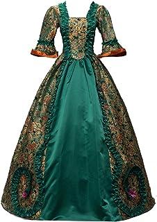 فستان فيكتوريان روكوكو من كونتري ويمنز فستان للحفلات بطابع قوطي لفستان حفلة أثري إعادة تمثيل المسرح