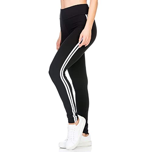 ddb1a7d4f4342a BLINKIN Women's Stripe Tights for Yoga, Gym and Active Sports Fitness