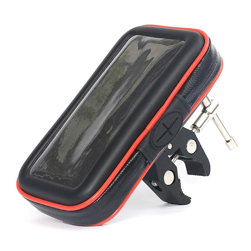遅滞法医学ホイップADELPHOS-02s 合金 自転車 バイク スマホ ホルダー スタンド スマホホルダー スマートフォン 携帯 オートバイ GPSナビ 防水 クリップ カメラ マウント iphone HUAWEI GALAXY Xperia android 角度調整 多機種対応 強力固定 360度回転 振れ止め 落下防止ワイヤー 製品保証3ヶ月付