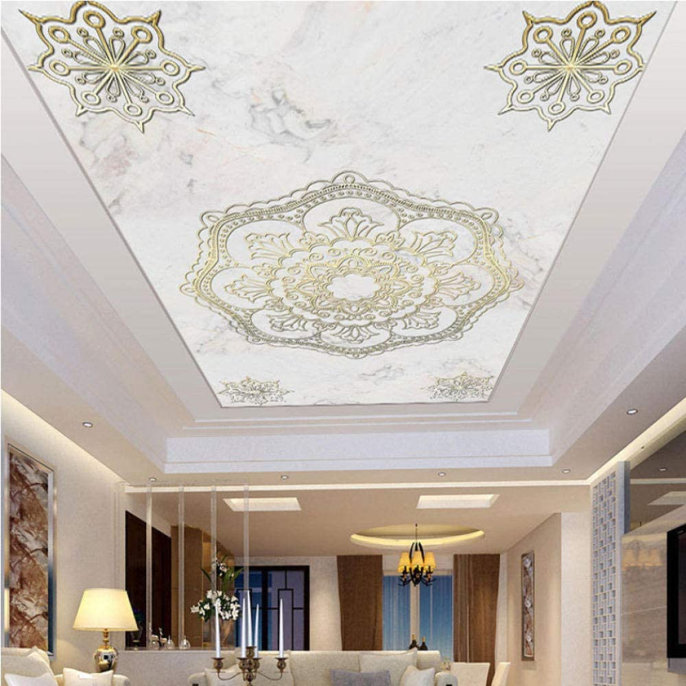 Clhhsy European Style Marble Luxury goods Pattern 5% OFF Ceiling Cu Murals Suspended