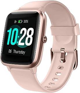 Lintelek Reloj Inteligente Mujer Hombre, Smartwatch con Monitor de Pasos, Calorías, Sueño y Ritmo Cardíaco, Reloj Intelige...