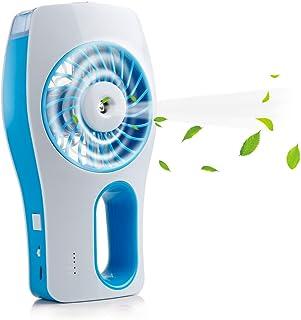 Miniventilador de suelo iEGrow con refrigeración, ventilador manual recargable USB con 3 modos de circulación diferentes (azul)