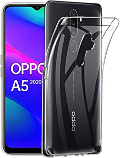 OPPO A5 2020 ケース 【ELMK】クリスタル クリア 透明 TPU素材 保護カバー OPPO A5 対応 (クリア)