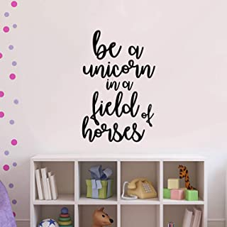 Vinyl Wall Art Decal - Be A Unicorn in A Field of Horses - 23
