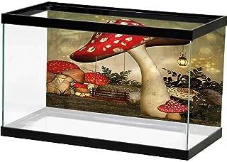 SLLART Underwater Poster Mushroom,Mushroom Flower Magic Easy Paste