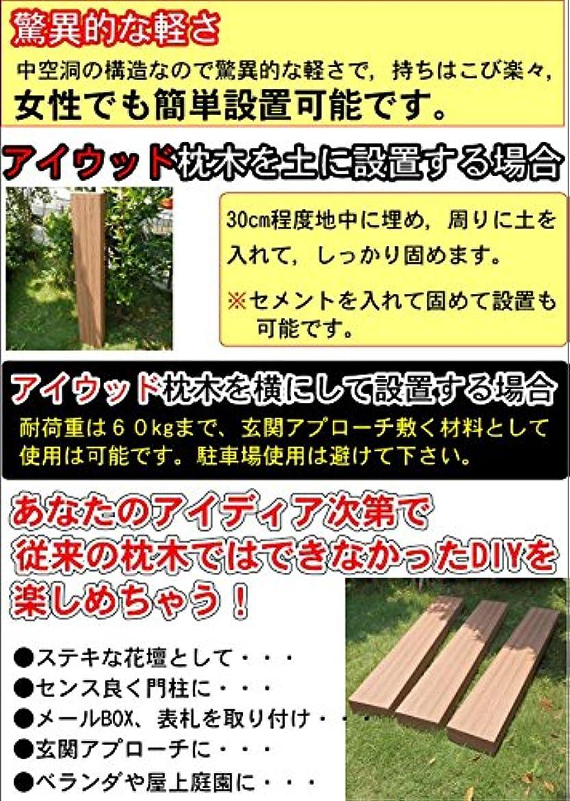 代表魚組アイガーデン 枕木 アイウッド枕木 i10207 人工木製 ナチュラル 180cm 1本