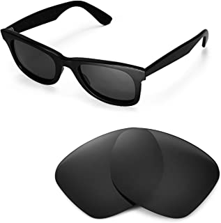 Walleva Replacement Lenses for Ray-Ban Wayfarer RB2140 50mm- 5 Options