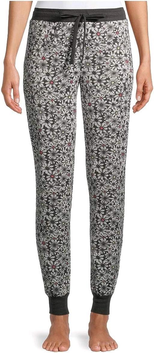 Floral Charcoal Grey Hacci Jogger Lounge Sleep Pants