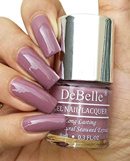 DeBelle Gel Nail Lacquer Majestique Mauve (Mauve Nail Polish), 8ml