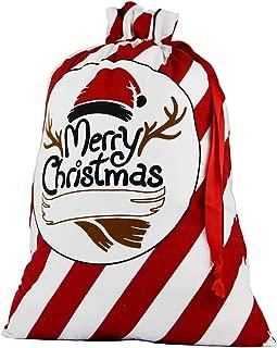 Blank Santa Sack, Personalized Bag with Drawstring and Gift RibbonSize 26