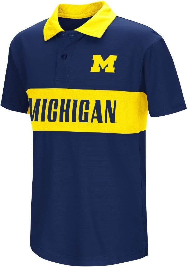 Michigan Wolverines NCAA Max 57% OFF Setter Max 75% OFF Performance Polo Youth Shirt