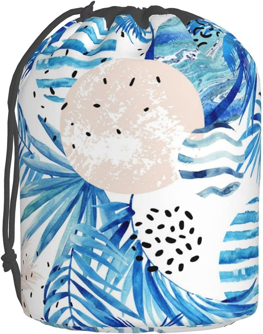 Watercolor Tropical Palm Plants Recommended Cosmetic Portable Bag Makeup Buc Max 58% OFF