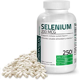 Bronson Selenium 200 mcg for Immune System, Thyroid, Prostate and Heart Health – Yeast Free Selenium Amino Acid Complex - ...