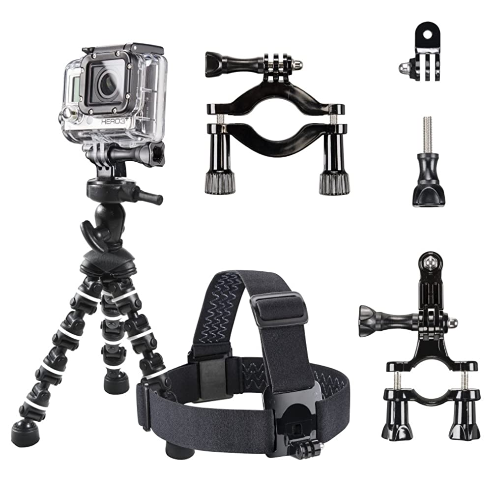 Mantona Fishing Set with Table Tripod, Pole Clamp and Mounting Equipment for GoPro Camera