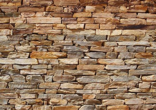 AG Design FTS 1319 stenen wand, papier fotobehang - 360x254 cm - 4 stuks, papier, multicolor, 0,1 x 360 x 254 cm