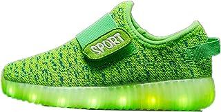 Super bang Kids Boys' Hypno-Flash-Tremblers Light Up Shoes Fashion Christmas Breathable Sneakers